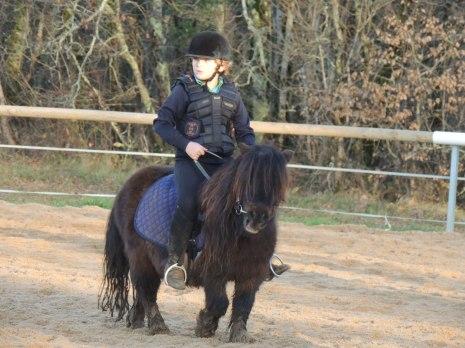 Cavalier sur sa ponette