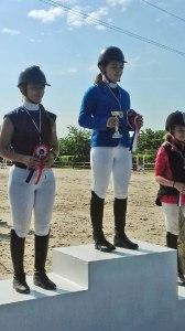 Maeva et Stéphanie, championne et vice championne d'Aquitaine 2018 de Saut d'Obstacle